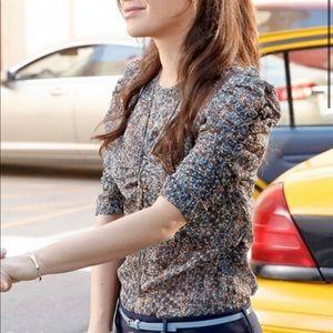 Isabel Marant Pour H&M metallic silk blouse